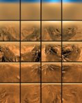 Details Comments (0) A series of images captured by the Huygens probe as it parachuted into Titan's atmosphere