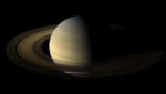 A photograph of Saturn on its Spring Equinox.